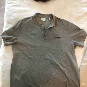 Burberry Men's polo shirt.  Large.  Worn once.